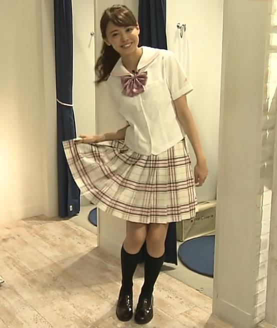 宮澤智アナ 可愛すぎセーラー服コスプレキャプ・エロ画像5