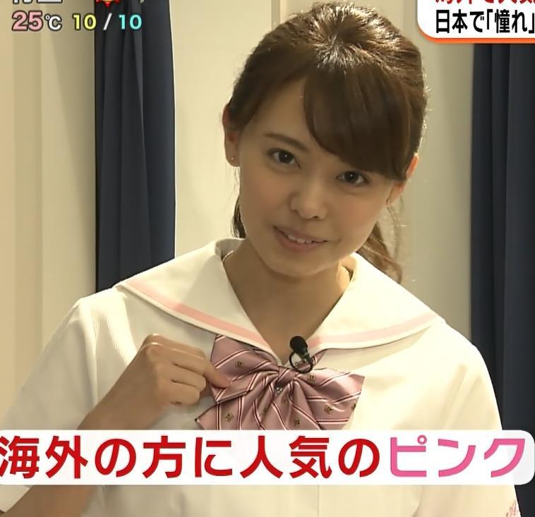 宮澤智アナ 可愛すぎセーラー服コスプレキャプ・エロ画像6