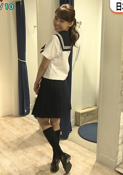 宮澤智アナ 可愛すぎセーラー服コスプレキャプ・エロ画像10