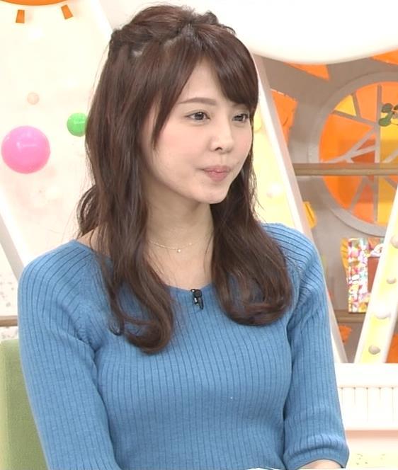 宮澤智アナ このニットおっぱいはエロいよねキャプ・エロ画像12