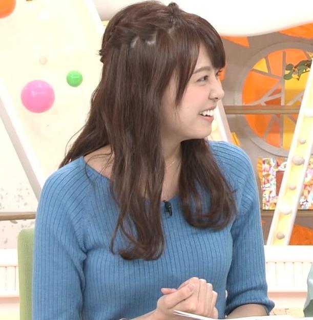 宮澤智アナ このニットおっぱいはエロいよねキャプ・エロ画像13