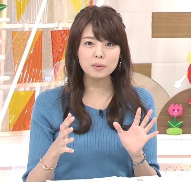 宮澤智アナ このニットおっぱいはエロいよねキャプ・エロ画像4