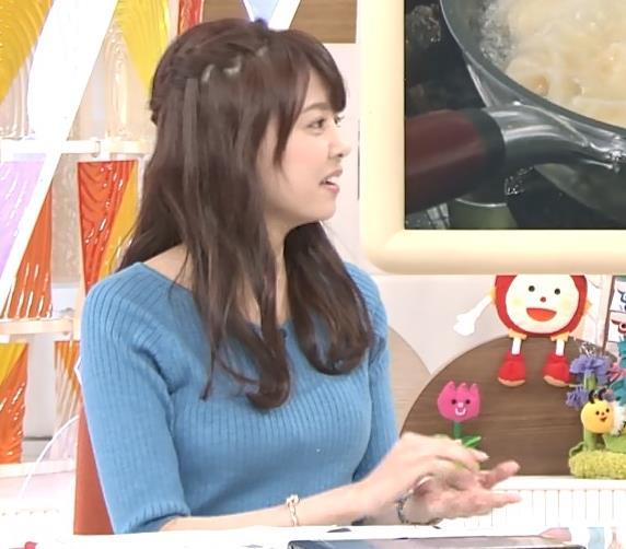 宮澤智アナ このニットおっぱいはエロいよねキャプ・エロ画像6
