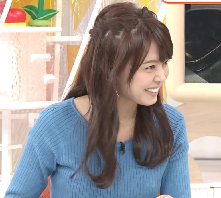 宮澤智アナ このニットおっぱいはエロいよねキャプ・エロ画像9