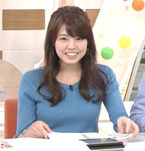 宮澤智アナ このニットおっぱいはエロいよねキャプ・エロ画像10