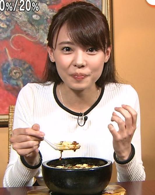宮澤智アナ ピタピタニットでクッキリおっぱいキャプ・エロ画像3