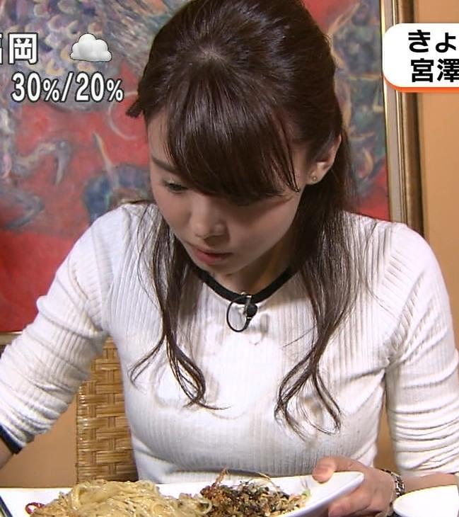 宮澤智アナ ピタピタニットでクッキリおっぱいキャプ・エロ画像4