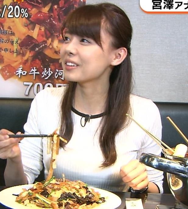 宮澤智アナ ピタピタニットでクッキリおっぱいキャプ・エロ画像5