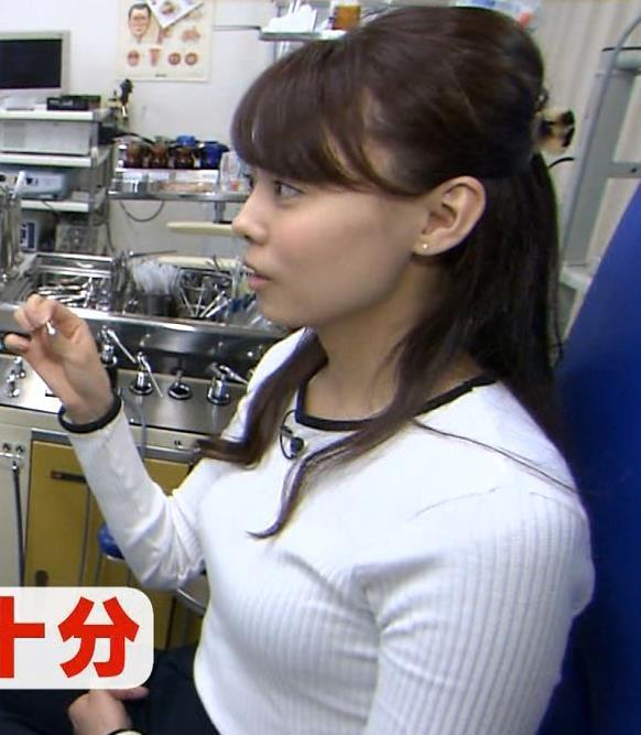 宮澤智アナ ピタピタニットでクッキリおっぱいキャプ・エロ画像7