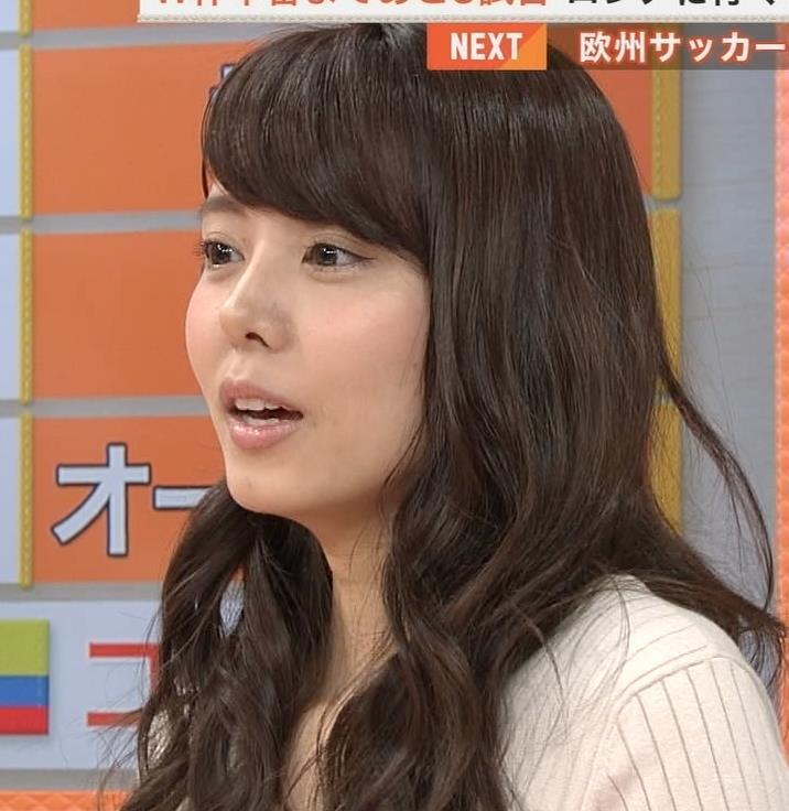 宮澤智アナ 盛っているのかデカくなったのか、ちっと横乳がエロいキャプ・エロ画像2