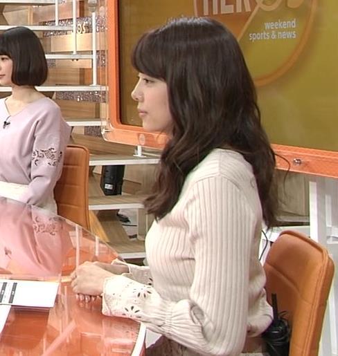 宮澤智アナ 盛っているのかデカくなったのか、ちっと横乳がエロいキャプ・エロ画像5