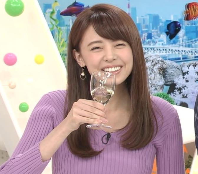 宮澤智アナ ニットで乳がクッキリ!乳デカそうキャプ・エロ画像3