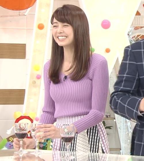 宮澤智アナ ニットで乳がクッキリ!乳デカそうキャプ・エロ画像4