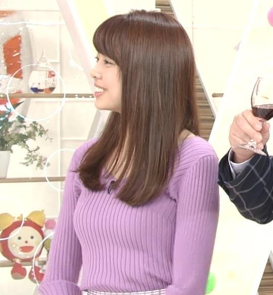 宮澤智アナ ニットで乳がクッキリ!乳デカそうキャプ・エロ画像5