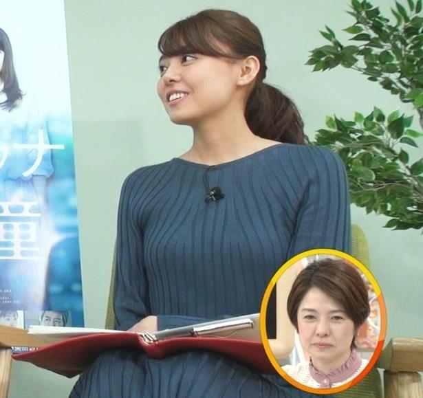 宮澤智アナ セクシーなニットおっぱいキャプ・エロ画像2