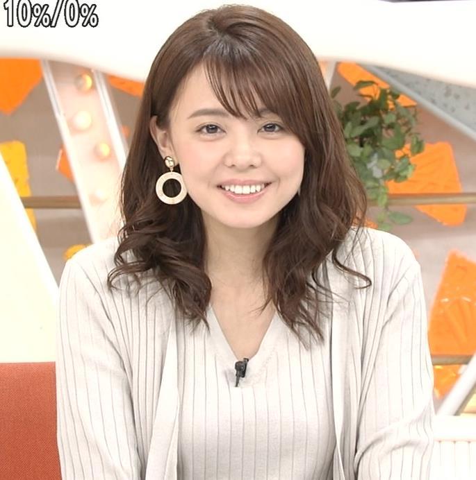 宮澤智アナ セクシーなニットおっぱいキャプ・エロ画像11