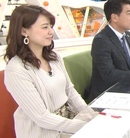 宮澤智アナ セクシーなニットおっぱいキャプ・エロ画像13