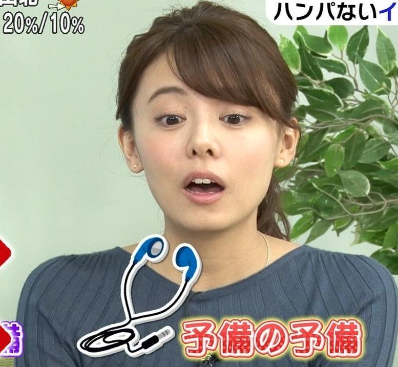 宮澤智アナ セクシーなニットおっぱいキャプ・エロ画像8