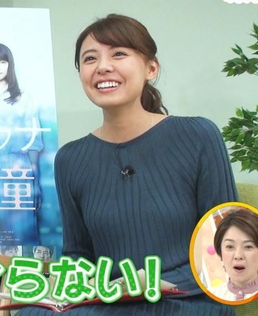 宮澤智アナ セクシーなニットおっぱいキャプ・エロ画像9