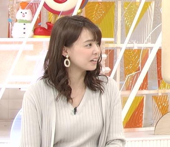 宮澤智アナ セクシーなニットおっぱいキャプ・エロ画像10