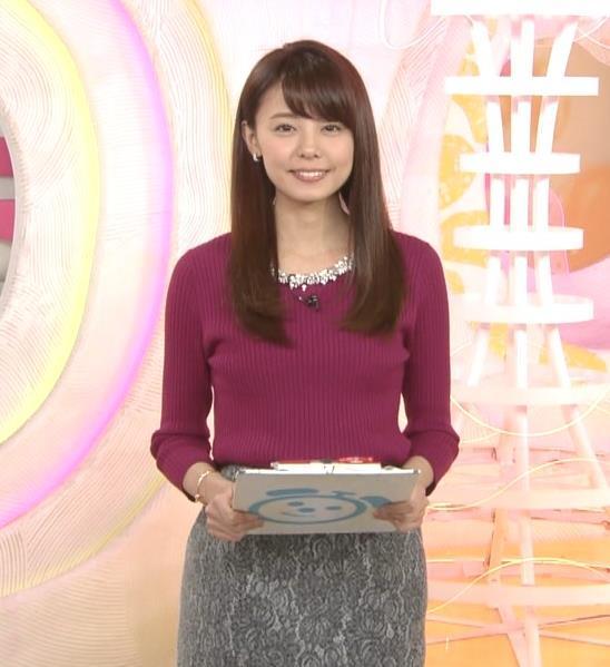 宮澤智アナ ニット★横乳キャプ・エロ画像5