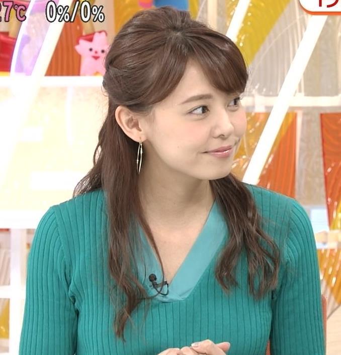 宮澤智アナ ニットおっぱいが大きくてエロイんだが…キャプ・エロ画像3