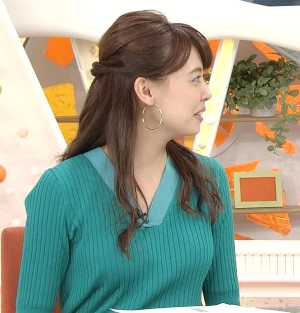 宮澤智アナ ニットおっぱいが大きくてエロイんだが…キャプ・エロ画像5