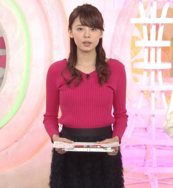 宮澤智アナ ニットおっぱい♡♡キャプ・エロ画像2