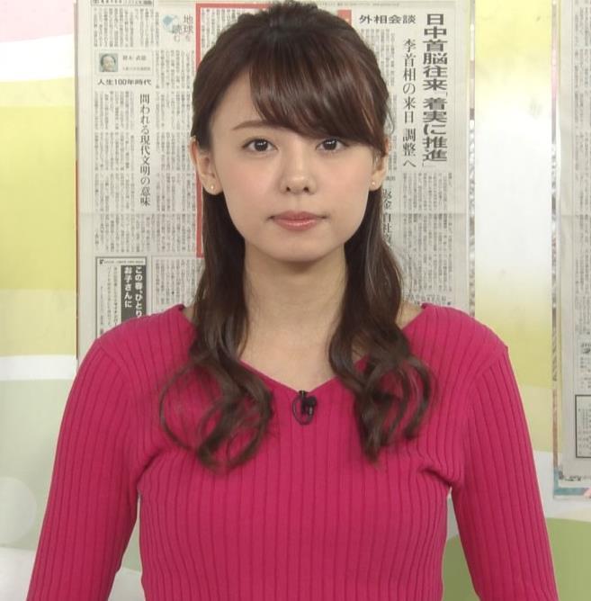 宮澤智アナ ニットおっぱい♡♡キャプ・エロ画像4