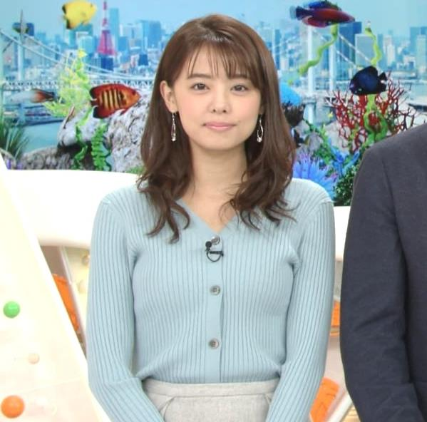 宮澤智アナ エッチな胸のふくらみキャプ・エロ画像