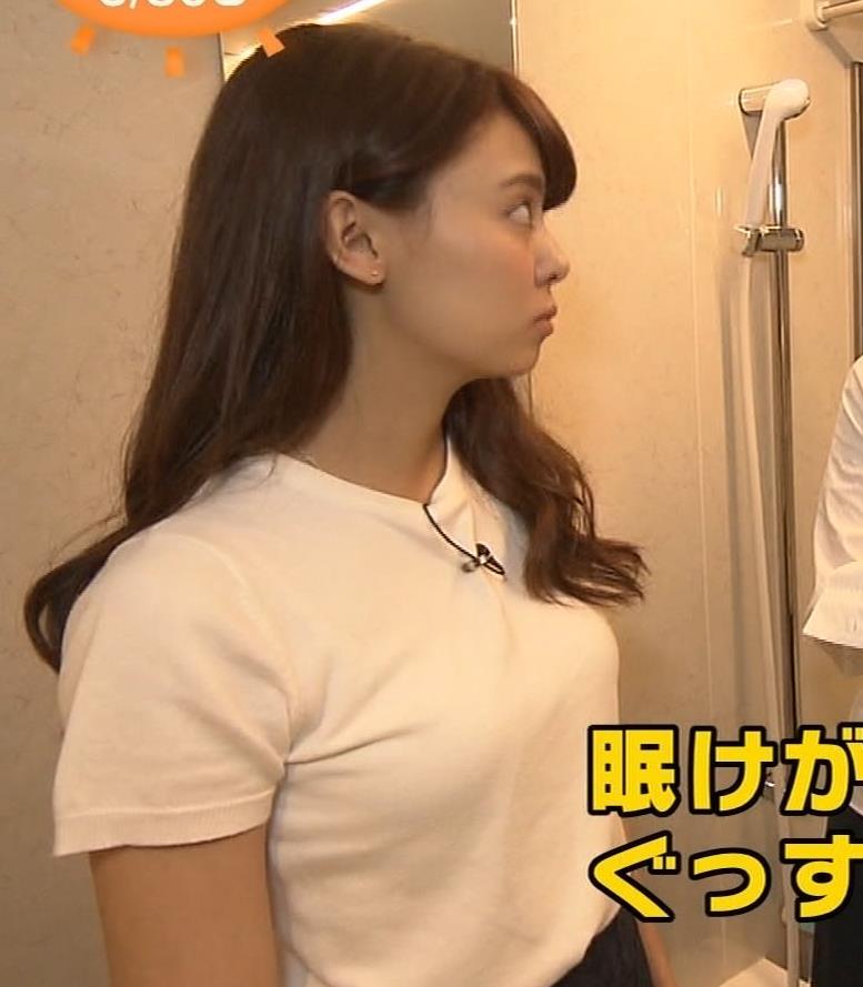 宮澤智アナ 寝そべったおっぱいキャプ・エロ画像3