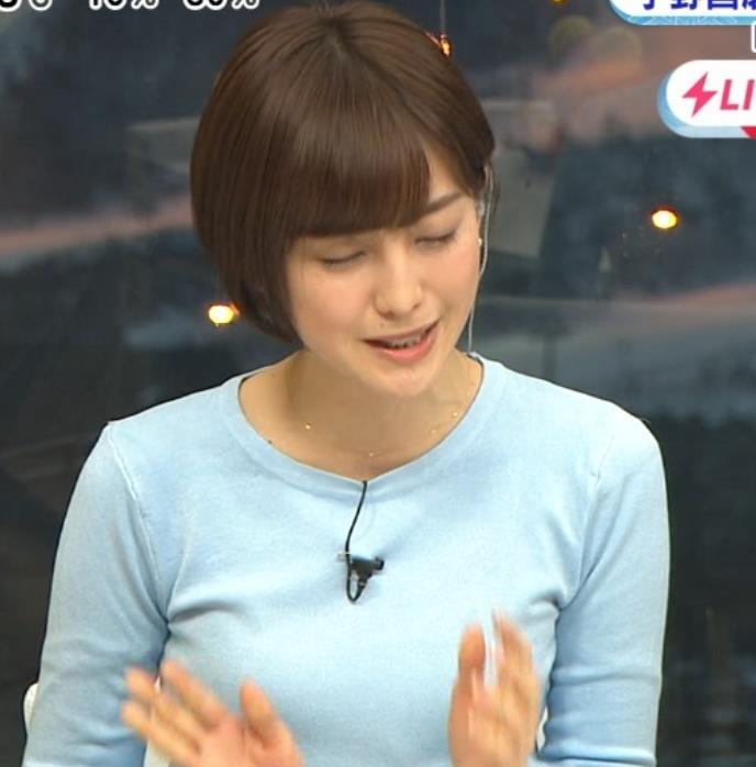 宮司愛海アナ 大きくないけどエロいニットおっぱいキャプ・エロ画像10