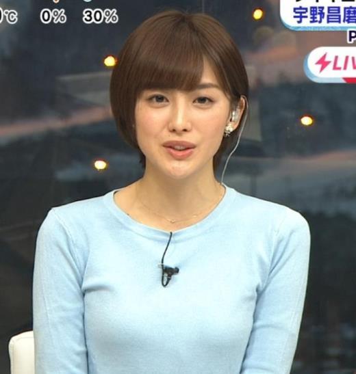 宮司愛海 大きくないけどエロいニットおっぱいキャプ画像(エロ・アイコラ画像)