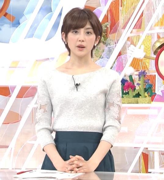 宮司愛海アナ 鎖骨露出!腕透け、乳寄せキャプ・エロ画像3