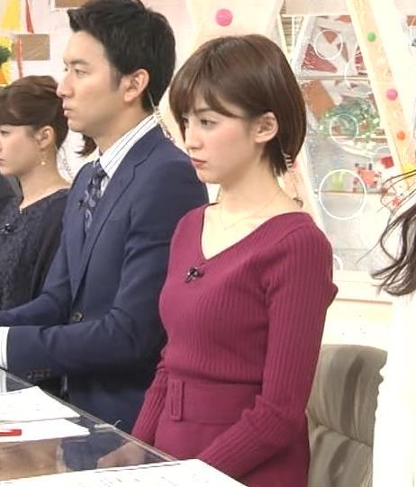 宮司愛海アナ ふっくらニットおっぱい♡キャプ・エロ画像