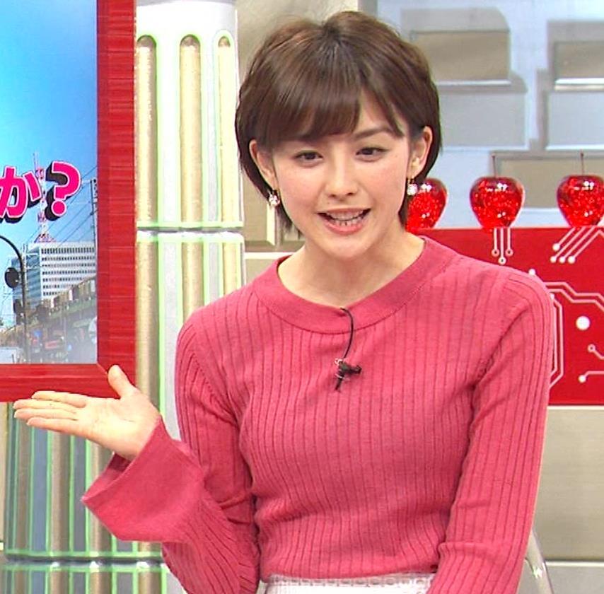 宮司愛海アナ ニットおっぱい(さまぁ~ずの神ギ問みんな大好きお金の疑問SP)キャプ・エロ画像6