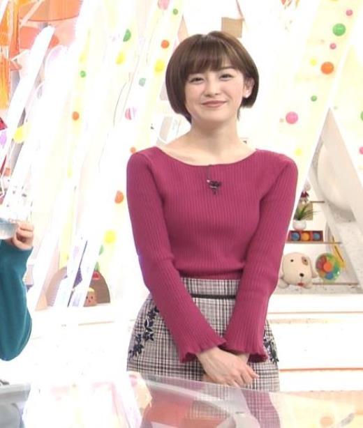 宮司愛海 両腕でおっぱいを挟むキャプ画像(エロ・アイコラ画像)