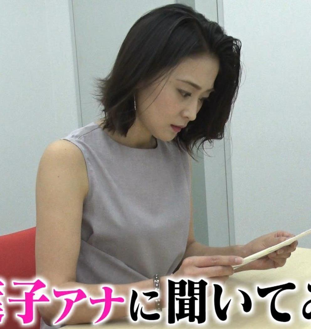 森葉子アナ セクシーノースリーブキャプ・エロ画像