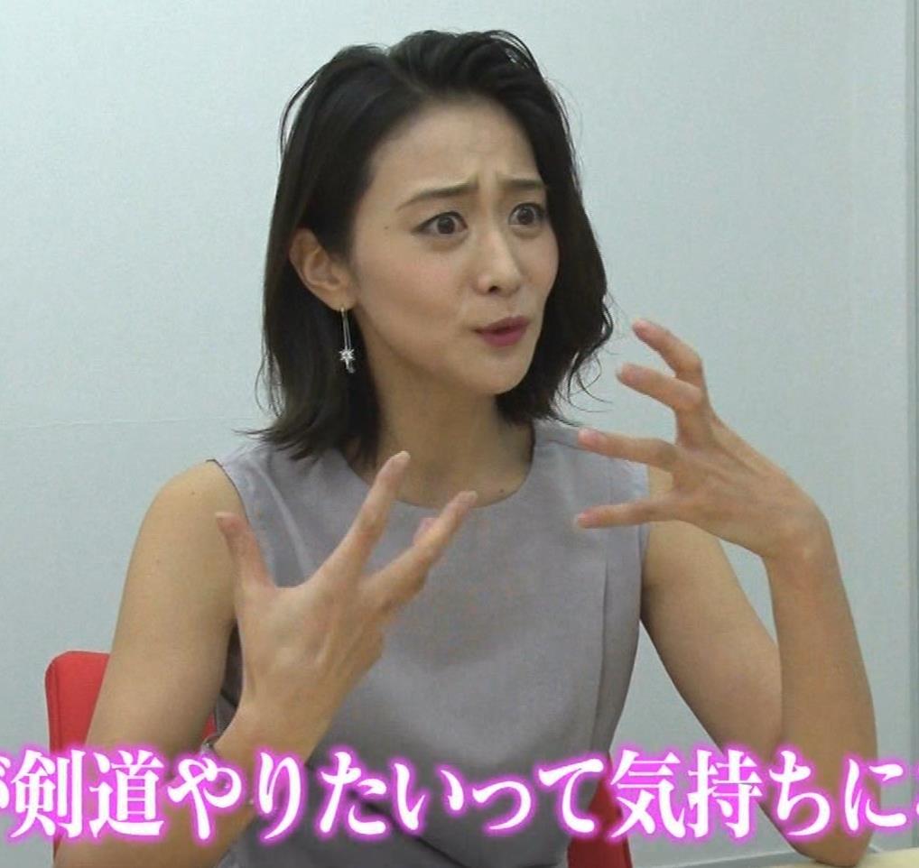 森葉子アナ セクシーノースリーブキャプ・エロ画像3
