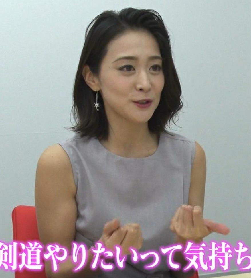 森葉子アナ セクシーノースリーブキャプ・エロ画像4