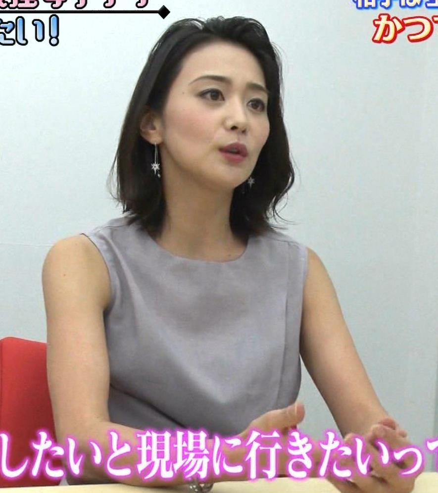 森葉子アナ セクシーノースリーブキャプ・エロ画像6