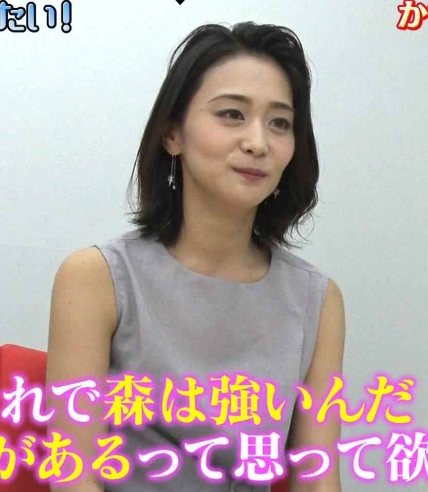 森葉子アナ セクシーノースリーブキャプ・エロ画像7