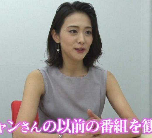 森葉子アナ セクシーノースリーブキャプ画像(エロ・アイコラ画像)