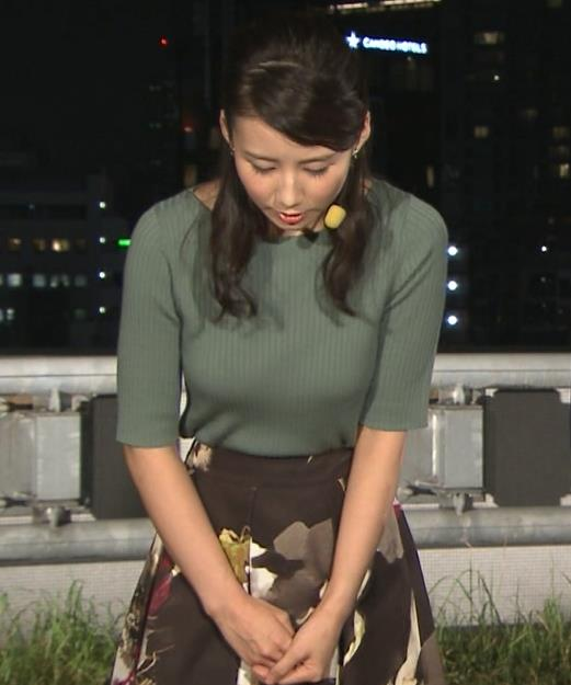 森川夕貴アナ オススメのニット乳キャプ・エロ画像