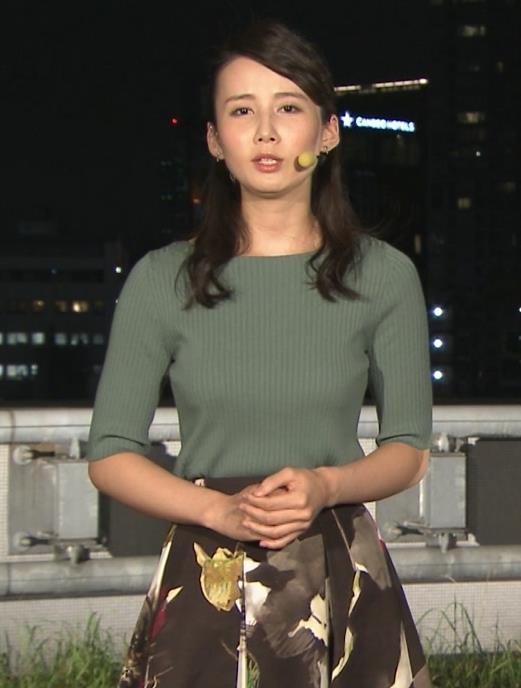 森川夕貴アナ オススメのニット乳キャプ・エロ画像2