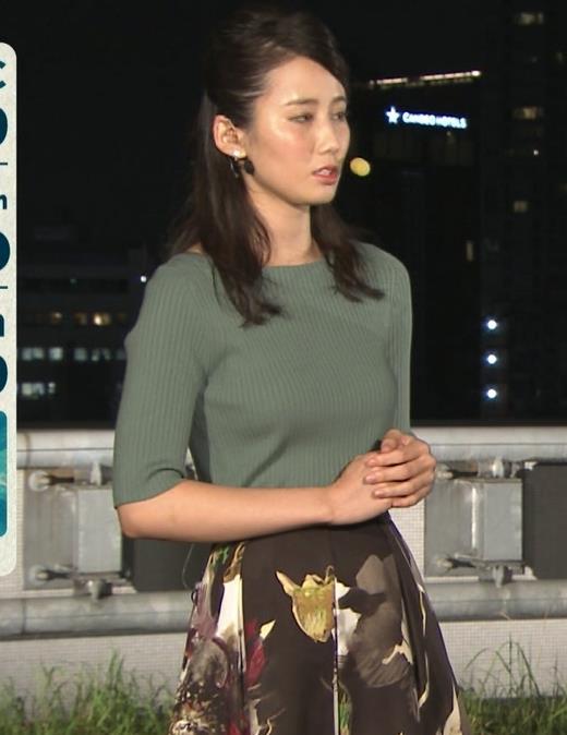 森川夕貴アナ オススメのニット乳キャプ・エロ画像3