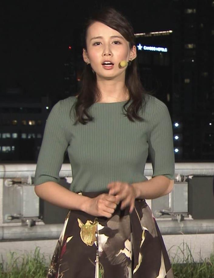 森川夕貴アナ オススメのニット乳キャプ・エロ画像4