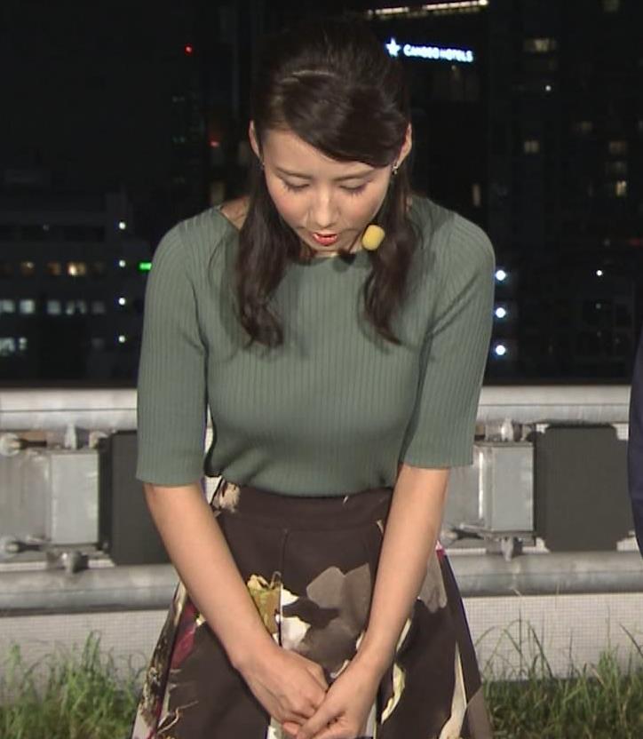 森川夕貴アナ オススメのニット乳キャプ・エロ画像5