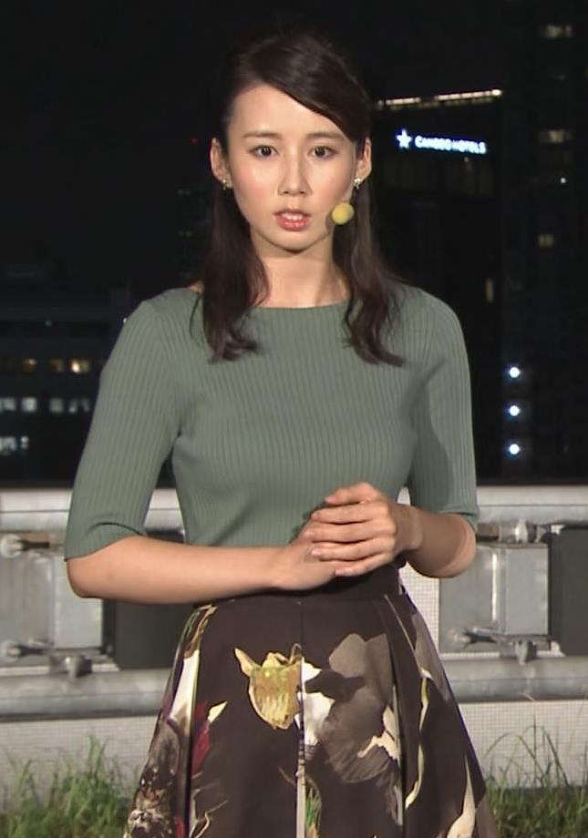 森川夕貴アナ オススメのニット乳キャプ・エロ画像6