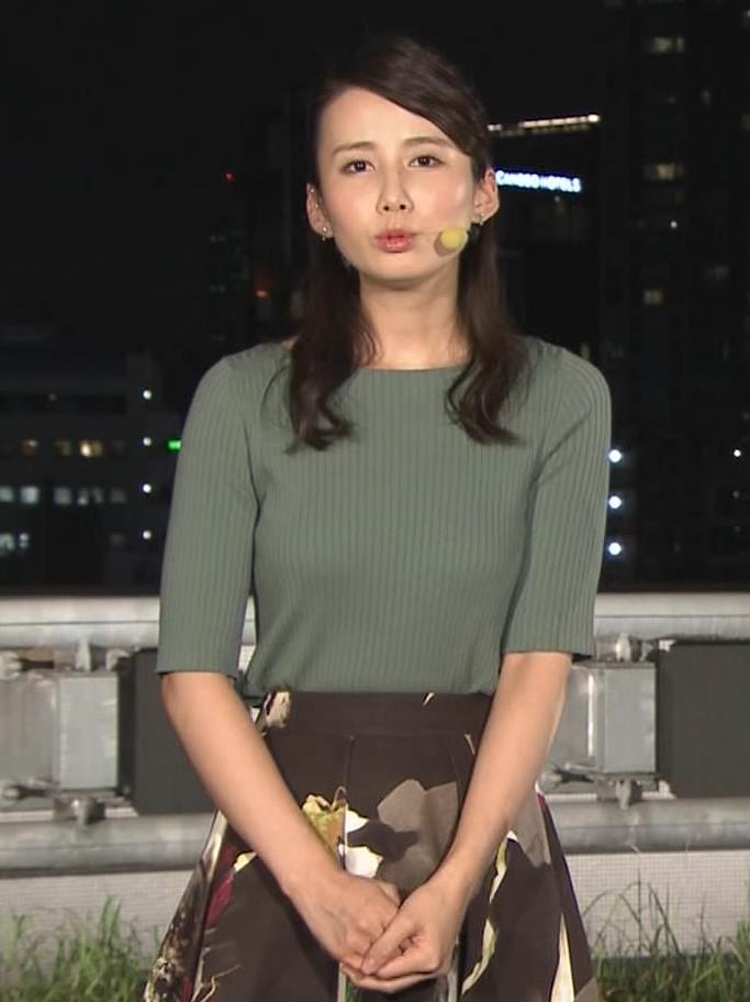 森川夕貴アナ オススメのニット乳キャプ・エロ画像7